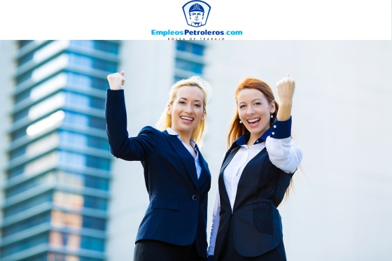 Closeup portrait happy smiling businesswomen with arms raised up, ecstatic business partners looking at camera, excited pumping fists celebrating isolated background corporate office. Positive emotion